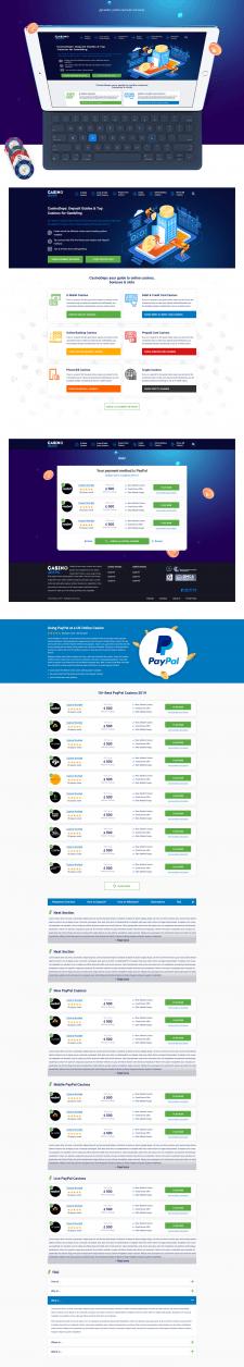 Дизайн сайта онлайн казино CasinoDeps