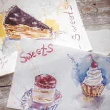 Иллюстрация, пироженные