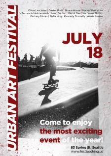 Постер для фестиваля уличных искусств
