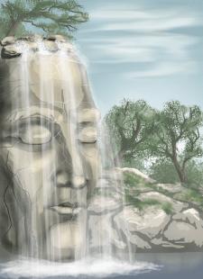 сюрреалистический водопад