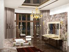 частный дом,ванная комната