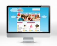 Дизайн сайта (магазин игрушек)