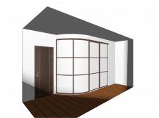 Шкаф радиусный фасады