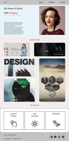 Дизайн Главной страницы(Портфолио)