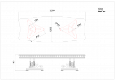 создание чертежей стола фирмы BelCor по фото