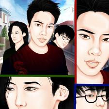 Иллюстрация  персонажей.
