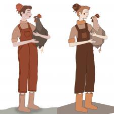 Персонаж в двух стилях
