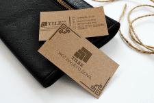 Визитка для компании Tilex