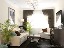 Проект маленькой гостиной