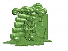 банщик_рельеф - модель для ЧПУ станка