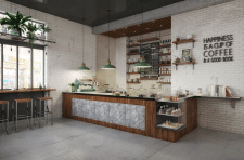 Coffee_shop. Design and visualization