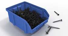 Plastic Storage Bin With Self-tapping Screws