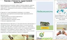 Презентация услуг сайта на инет странице портала