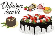 Десерты (акварель)