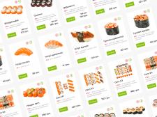 Food delivery web-servise (sushi/rolls/pizza)