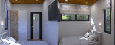 Интерьер частного дома. Спальная комната
