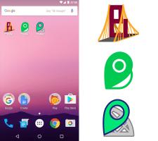 """Иконка-логотип для мобильного приложения """"Bridge"""""""