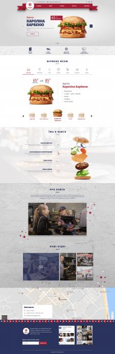 Дизайн сайта бургерной Ranch
