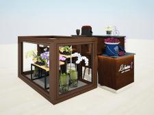 3D визуализация торгового оборудования LE BOUTON