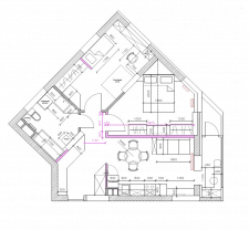 Проект перепланировки 2-комнатной квартиры