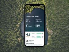 Концепт приложения для поиска загородных прогулок