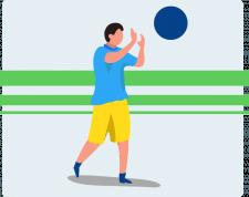 волейболист. векторная графика