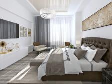 Дизайн спальни в бежевых оттенках