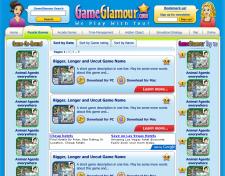 GameGlamour.com - дизайн страниц, категория игры