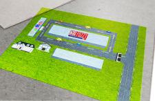 Дизайн карты проезда для детского магазина Jambo