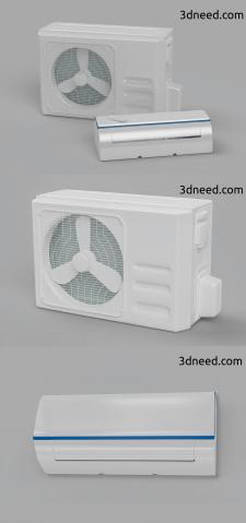 3d моделирование и визуализация кондиционера