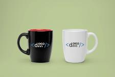 3D визуализация логотипа на кружке