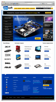 Дизайн сайта для компании «WinS