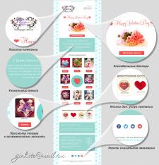 e-mail рассылка для магазина ко Дню Валентина