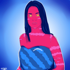 Портрет в PaintTool SAI