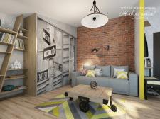 Дизайн интерьера гостинки, г. Харьков