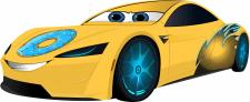 Машинка-персонаж