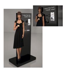 Выставочный стенд для карт Visa