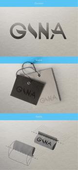 Дизайн логотипа для интернет-магазина «Gina»