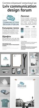 Фирменный стиль до Lviv Comunication Design Forum