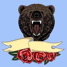 Медведь олд скул