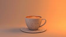 3D Модель чашки Капучино