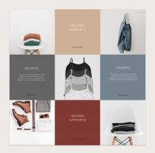 Раскладка для инстаграм-магазина одежды