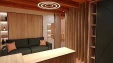 Проект спальни, совмещенной с рабочей зоной