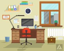 Office room flat