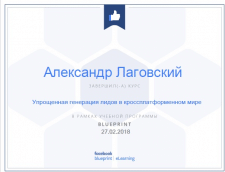 Сертификат Facebook