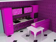 моделирование кухни в стиле арт-деко