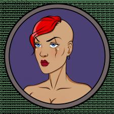 аватарка в стиле панк.