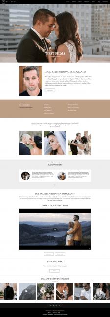 Сайт для свадебного видеооператора (США)-wordpress