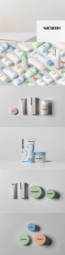 """Дизайн упаковок (тюбиков) для бренда """"Sacamo"""""""
