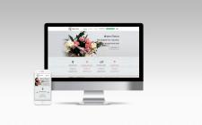 Адаптивный web дизайн  сайта Доставки цветов